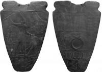 Narmerova paleta - přední a zadní strana